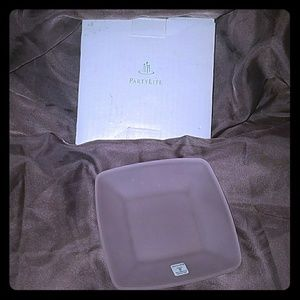 💙PARTYLITE CLEAR FROSTED CANDLE TRAY